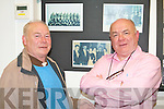 YOUNGER BROTHERS: Brothers Dick and John Donnelly looking over the photos at the Mitchels Regeneration Photography Exhibition at the Kerry County Library on Tuesday. .