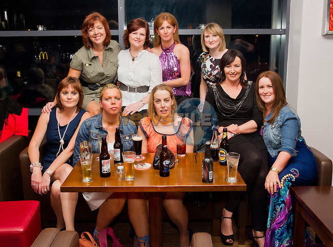 Ladies from Togher enjoy a night in Bru. Pictured are; Tara Woods, Pamela McDowell, Brenda Flynn, Sandra Darby, Linda Darby, Suzanne Leech, Angela Towly, Paula Crosbie and Fiona Leonard..Picture: Shane Maguire / www.newsfile.ie.