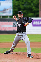 Quad Cities River Bandits pitcher Tyler Ivey (22) delivers a pitch during a Midwest League game against the Beloit Snappers on May 20, 2018 at Pohlman Field in Beloit, Wisconsin. Beloit defeated Quad Cities 3-2. (Brad Krause/Four Seam Images)