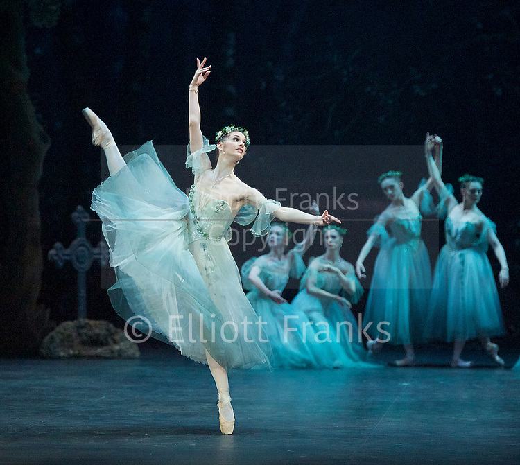 Giselle <br /> English National Ballet at The London Coliseum, London, Great Britain <br /> rehearsal <br /> 10th January 2017 <br /> <br /> <br /> <br /> Laureata Summerscales as Myrtha Queen of the Wilis <br /> <br /> <br /> Photograph by Elliott Franks <br /> Image licensed to Elliott Franks Photography Services