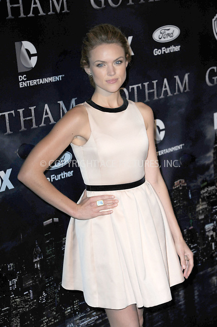 WWW.ACEPIXS.COM<br /> September 15, 2014 New York City<br /> <br /> Erin Richards attends the 'Gotham' Series Premiere at The New York Public Library onSeptember 15, 2014 in New York City.<br /> <br /> Please byline: Kristin Callahan/AcePictures<br /> <br /> ACEPIXS.COM<br /> <br /> Tel: (212) 243 8787 or (646) 769 0430<br /> e-mail: info@acepixs.com<br /> web: http://www.acepixs.com