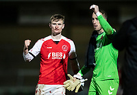 Fleetwood Town's Callum Connolly (left) and Alex Cairns celebrate victory at the end of the match<br /> <br /> Photographer Andrew Kearns/CameraSport<br /> <br /> The EFL Sky Bet League One - Wycombe Wanderers v Fleetwood Town - Tuesday 11th February 2020 - Adams Park - Wycombe<br /> <br /> World Copyright © 2020 CameraSport. All rights reserved. 43 Linden Ave. Countesthorpe. Leicester. England. LE8 5PG - Tel: +44 (0) 116 277 4147 - admin@camerasport.com - www.camerasport.com