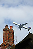 Air Traffic over Knutsford & Mobberley; Cheshire; from Manchester Airport,