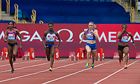 100m Women - Heat 1 - (l-r) Elaine THOMPSON (Jam), Dina ASHER-SMITH (GBR), Sally PEARSON (Aus) & Christania WILLIAMS (Jam) during the Muller Grand Prix Birmingham Athletics at Alexandra Stadium, Birmingham, England on 20 August 2017. Photo by Andy Rowland.
