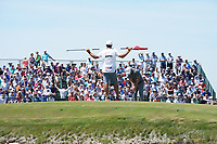 Brooks Koepka (USA) putts on the first hole during his final round of the 118th U.S. Open Championship at Shinnecock Hills Golf Club in Southampton, NY, USA. 17th June 2018.<br /> Picture: Golffile | Brian Spurlock<br /> <br /> <br /> All photo usage must carry mandatory copyright credit (&copy; Golffile | Brian Spurlock)