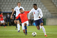 Joe Willock of Arsenal and England in action during Chile Under-21 vs England Under-20, Tournoi Maurice Revello Football at Stade Parsemain on 7th June 2019