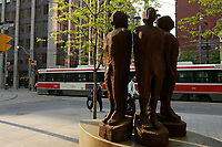 sculpture on Queen street east in downtown Toronto.<br />