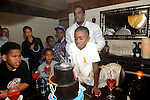 "Christian Combs, son of Sean ""P Diddy"" Combs,  blows out the candles at Lavo restaurant, Las Vegas, NV, April 1, 2010 © Al Powers / RETNA ltd"