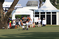 Julian Suri (USA) on the 18th green during Round 4 of the UBS Hong Kong Open, at Hong Kong golf club, Fanling, Hong Kong. 26/11/2017<br /> Picture: Golffile | Thos Caffrey<br /> <br /> <br /> All photo usage must carry mandatory copyright credit     (&copy; Golffile | Thos Caffrey)