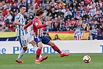 Atletico de Madrid's Antoine Griezmann and CD Leganes's Mikel Vesga during La Liga match between Atletico de Madrid and CD Leganes at Wanda Metropolitano stadium in Madrid, Spain. March 09, 2019. (ALTERPHOTOS/A. Perez Meca)