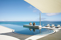 This tranquil infinity pool has views over the Koro Sea