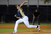 2 March 2012:  FIU pitcher Mason McVay (27) pitches as the FIU Golden Panthers defeated the Brown University Bears, 6-5, at University Park Stadium in Miami, Florida.