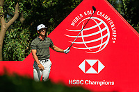 Thorbjorn Olesen (DEN) on the 9th tee during the final round at the WGC HSBC Champions 2018, Sheshan Golf CLub, Shanghai, China. 28/10/2018.<br /> Picture Fran Caffrey / Golffile.ie<br /> <br /> All photo usage must carry mandatory copyright credit (&copy; Golffile | Fran Caffrey)