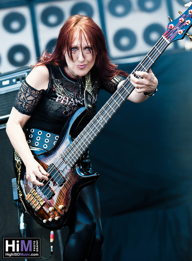 Girlschool performing at Heavy MTL 2011 in Montreal, QC.