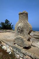Zypern (Nord), Palast-Grundmauern in Vouni, 5.-6.Jh.v.Chr.(persisch)