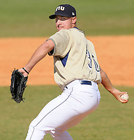 2 March 2008: Florida International pitcher Daniel DeSimone (36) throws in relief in the top of the eighth inning of the FIU 8-3 victory over Wagner  at University Park Stadium in Miami, Florida.