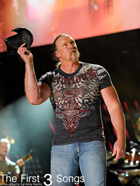 Trace Adkins performs at LP Field during the 2011 CMA Music Festival on June 11, 2011 in Nashville, Tennessee.