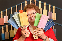 Kathy Shumate bought the Annie Sloan chalk paint franchise from Empty Nest on Main Street.