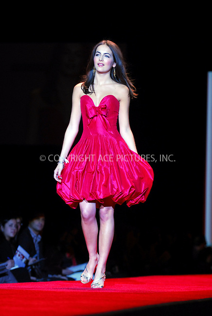 WWW.ACEPIXS.COM . . . . . ....February 2, 2007. New York City.....Camilla Belle wearing Oscar de la Renta during Heart Truth Red Dress Collection Fall 2007.....Please byline: KRISTIN CALLAHAN - ACEPIXS.COM.. . . . . . ..Ace Pictures, Inc:  ..(212) 243-8787 or (646) 679 0430..e-mail: picturedesk@acepixs.com..web: http://www.acepixs.com