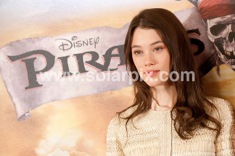 "**ALL ROUND PICTURES FROM SOLARPIX.COM**                                             **WORLDWIDE SYNDICATION RIGHTS EXCEPT SPAIN - NO SYNDICATION IN SPAIN**                                                                                  Photocall for the Spanish premiere of the new movie, ""Pirates of the Caribbean: On Stranger Tides"" in Madrid today.                                                                          .This pic:  Astrid Berges-Frisbey                                                                                          JOB REF:     13369   DMS       DATE:  18.05.11                                                          **MUST CREDIT SOLARPIX.COM OR DOUBLE FEE WILL BE CHARGED**                                                                      **MUST AGREE FEE BEFORE ONLINE USAGE**                               **CALL US ON: +34 952 811 768 or LOW RATE FROM UK 0844 617 7637**"