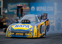 Sep 14, 2018; Mohnton, PA, USA; NHRA funny car driver Ron Capps during qualifying for the Dodge Nationals at Maple Grove Raceway. Mandatory Credit: Mark J. Rebilas-USA TODAY Sports