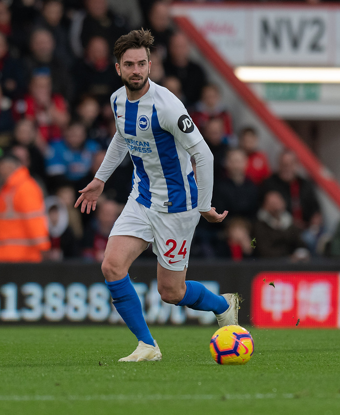 Brighton & Hove Albion's Davy Propper <br /> <br /> Photographer David Horton/CameraSport<br /> <br /> The Premier League - Bournemouth v Brighton and Hove Albion - Saturday 22nd December 2018 - Vitality Stadium - Bournemouth<br /> <br /> World Copyright © 2018 CameraSport. All rights reserved. 43 Linden Ave. Countesthorpe. Leicester. England. LE8 5PG - Tel: +44 (0) 116 277 4147 - admin@camerasport.com - www.camerasport.com