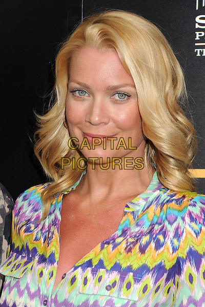 "Laurie Holden.AMC's ""Breaking Bad"" Season 5 Premiere at Comic-Con 2012 held at Reading Cinemas, San Diego, California, USA..July 14th, 2012.headshot portrait white yellow purple blue print .CAP/ADM/BP.©Byron Purvis/AdMedia/Capital Pictures."
