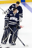 Tyler Scott (UNH - 1), Jeff Wyer (UNH - 35) - The University of Notre Dame Fighting Irish defeated the University of New Hampshire Wildcats 2-1 in the NCAA Northeast Regional Final on Sunday, March 27, 2011, at Verizon Wireless Arena in Manchester, New Hampshire.