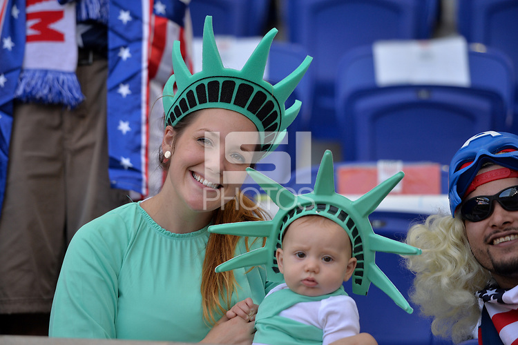 Harrison, N.J. - Friday September 01, 2017: USA fans during a 2017 FIFA World Cup Qualifying (WCQ) round match between the men's national teams of the United States (USA) and Costa Rica (CRC) at Red Bull Arena.