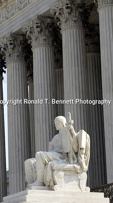 """Supreme Court of the United States Washington D.C., Judiciary, Chief Justice of the United States, eight Associated Justices, Justices nominated by the President, confirmed with the """"advice and consent,"""" Majority vote of the Senate, United States Supreme Court building, appellate court, original jurisdiction, High court, SCOTUS, authorized by U.S. Constitution, Chief Justices, Judicial independence, Fine Art Photography by Ron Bennett, Fine Art, Fine Art photo, Art Photography,"""
