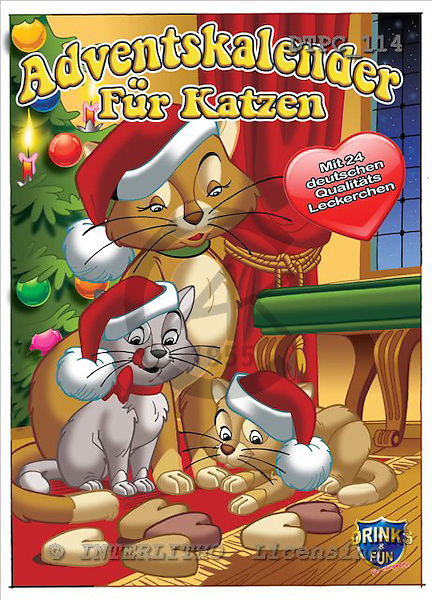 Eberle, Comics, CHRISTMAS ANIMALS, paintings+++++,DTPC114,#xa# Weihnachten, Navidad, illustrations, pinturas