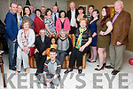 Patrick 'Tappy' Keating and Mary seated front centre from kimego, Cahersiveen celebrated their 55th wedding anniversary with family in The Ring of Kerry Hotel on Saturday night.