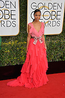 Zoe Saldana at the 74th Golden Globe Awards  at The Beverly Hilton Hotel, Los Angeles USA 8th January  2017<br /> Picture: Paul Smith/Featureflash/SilverHub 0208 004 5359 sales@silverhubmedia.com