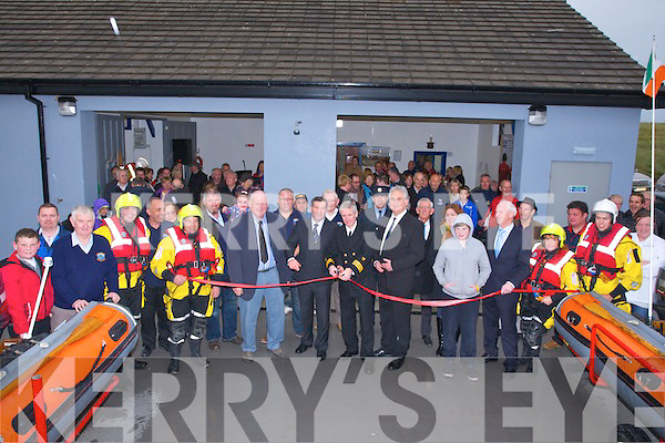 The crew of the Banna Sea Rescue who were at the opening of the Banna Sea Rescue new building on Sunday with members of the public