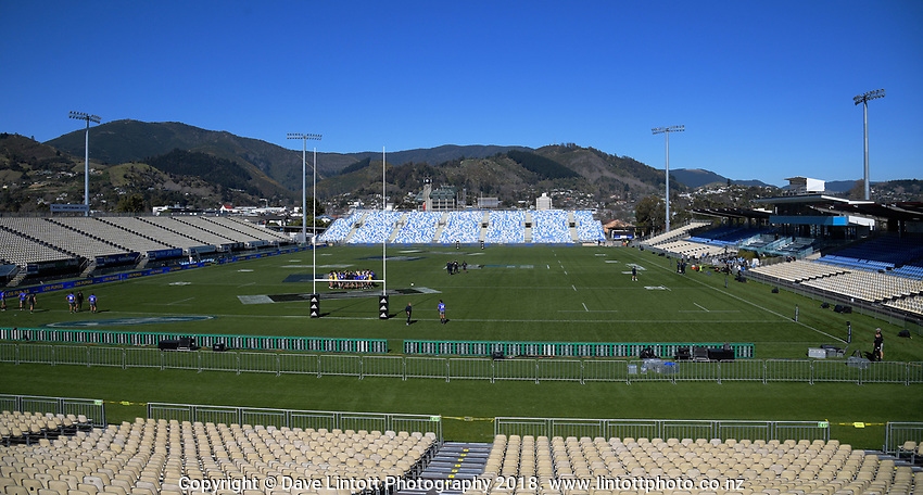 A general view of the Rugby Championship Argentina Pumas captain's run at Trafalgar Park in Nelson, New Zealand on Friday, 7 September 2018. Photo: Dave Lintott / lintottphoto.co.nz