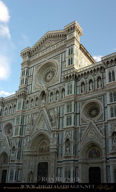 19th c Facade at sunrise Santa Maria del Fiore Florence