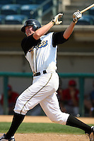 July 16 2008: Mark Trumbo of the Rancho Cucamonga Quakes during game against the High Desert Mavericks at The Epicenter in Rancho Cucamonga,CA.  Photo by Larry Goren/Four Seam Images