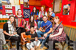 Pictured at the Trad by the Sea session in the Moorings Bar in Portmagee on Saturday were front l-r; Orla Murphy, Marion Cournane, Brogan McAuliffe, Janette Murphy, Sam Proctor, Orlaith McAuliffe, back l-r; Kelsey McCarthy, Sarah Landers & Ríona Moran.