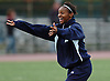 New Hyde Park, NY - November 11, 2009: South Side High School senior No. 21 Crystal Dunn reacts after her team's 4-0 win over Division Avenue in the Nassau County varsity girls' soccer Class A final at Tully Park. After becoming a four-time All-American at the University of North Carolina and winning the Hermann Award in 2013, she was selected first overall by the Washington Spirit in the 2014 National Women's Soccer League College Draft. (Photo by James Escher)
