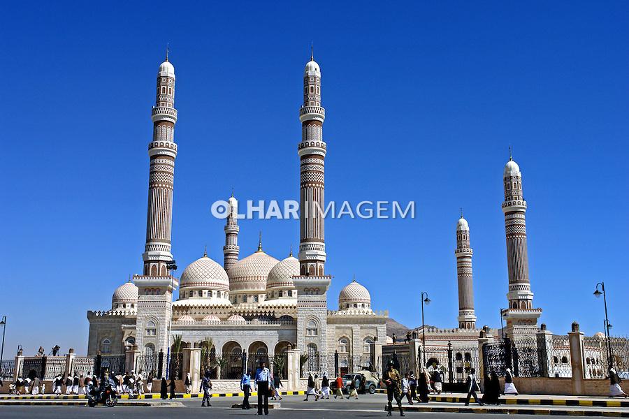 Mesquita na cidade velha de Sanaa capital do Yemen. 2008. Foto de Caio Vilela.