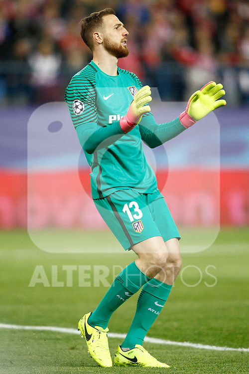 Atletico de Madrid's Jan Oblak during Champions League 2016/2017 Round of 16 2nd leg match. March 15,2017. (ALTERPHOTOS/Acero)