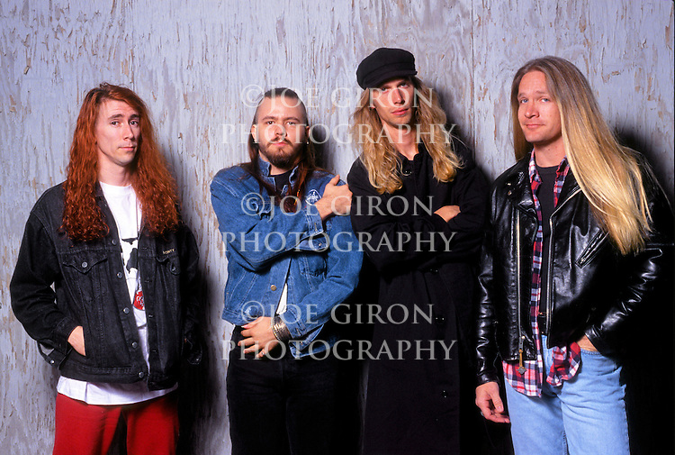 Various portrait sessions of the rock band, Galactic Cowboys.
