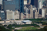 aerial photograph Millenium Park Chicago, Illinois