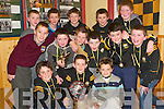 CHAMPS: The Listowel Emmet's Under 11 North Kerry Blitz Champions at the Emmet's Awards night at the club rooms on Thursday evening. Pictured with the Sam Maguire were front l-r: Cathal Keane, Sean Collins and Adam O'Rourke. Middle l-r: Josh Lyons, Darragh Hughes, Jo Jo Grimes, Mark Kennedy, John Keane and Ciaran Enright. Back l-r: Christian Elbell, Sean Hannon, Bill O'Flynn, Leo Connell and John R Kirby.   Copyright Kerry's Eye 2008