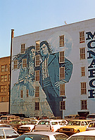 "Los Angeles: Mural on South Broadway, 1975. ""Bride and Groom"", Kent Twitchell.  Photo '84."
