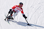 Taiki Morii (JPN), <br /> MARCH 10, 2018 - Alpine Skiing : <br /> Men's Downhill Sitting <br /> at Jeongseon Alpine Centre  <br /> during the PyeongChang 2018 Paralympics Winter Games in Pyeongchang, South Korea. <br /> (Photo by Yusuke Nakanishi/AFLO SPORT)