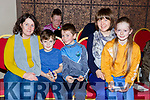 Caroilne O'Connor, Leonard Brady, Daniel and Anne Cronin and Reidin Brady at the Gaelscoil Faitleann bingo in the Gleneagle Hotel on Sunday