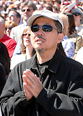 Washington, DC - April 17, 2008 -- Yado Soong of Silver Spring, Maryland prays as Pope Benedict XVI celebrates Mass at the new Nationals Park in Washington, D.C. on Thursday, April 17, 2008. This is the first non-baseball event in the park, which opened March 31..Credit: Ron Sachs / CNP.(RESTRICTION: NO New York or New Jersey Newspapers or newspapers within a 75 mile radius of New York City)