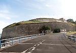 Perimeter defensive walls to Nothe Fort built in 1872 Weymouth, Dorset, England, UK