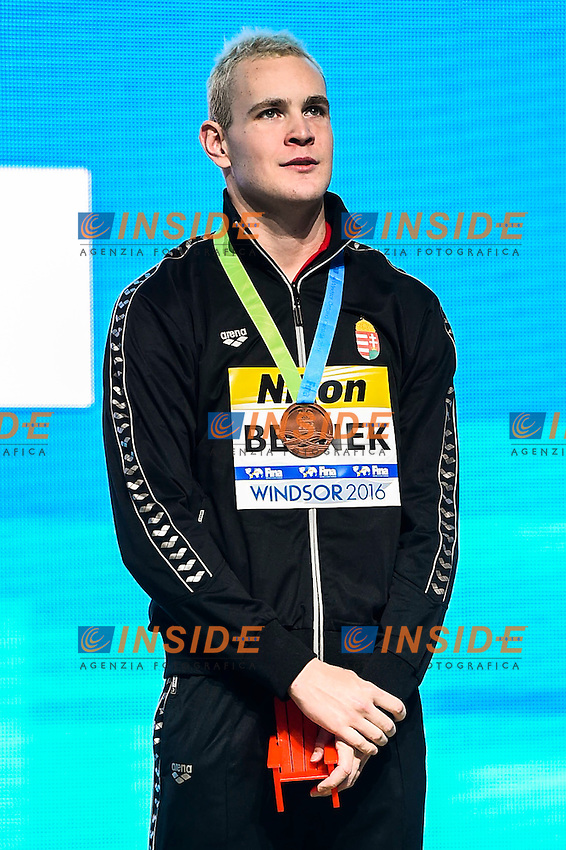 BERNEK Peter HUN Bronze Medal<br /> Men's Freestyle 400m<br /> 13th Fina World Swimming Championships 25m <br /> Windsor  Dec. 6th, 2016 - Day01 Finals<br /> WFCU Centre - Windsor Ontario Canada CAN <br /> 20161206 WFCU Centre - Windsor Ontario Canada CAN <br /> Photo &copy; Giorgio Scala/Deepbluemedia/Insidefoto
